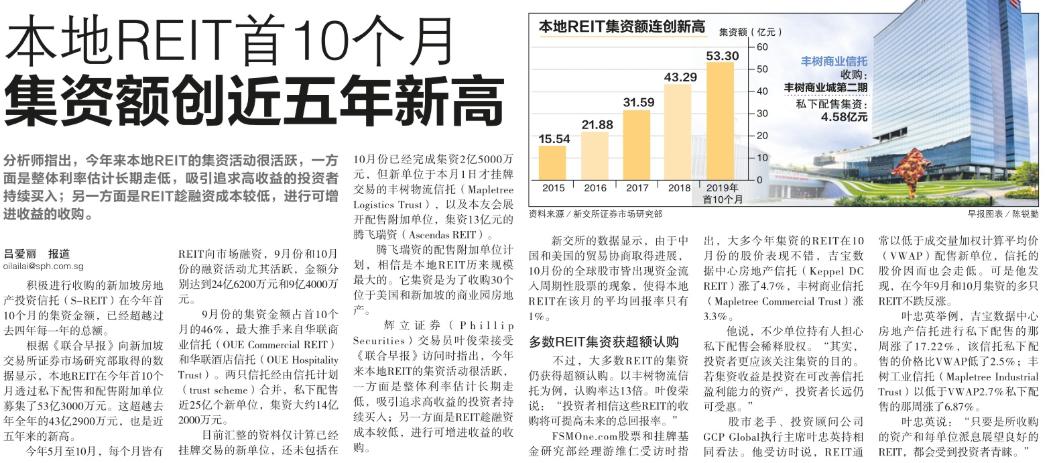 本地REIT首10个月集资额创近五年新高.png