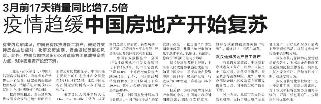 3月前17天销量同比增7.5倍,疫情趋缓中国房地产开始复苏.jpg