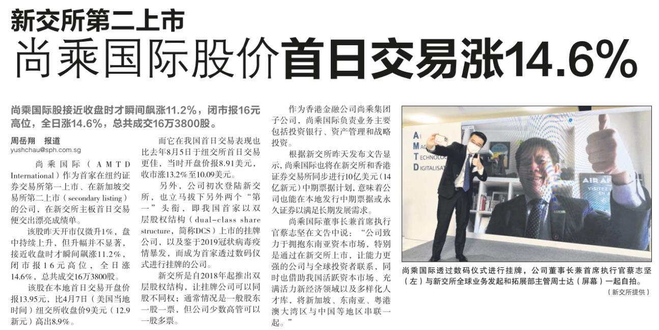 新交所第二上市,尚乘国际股价首日交易涨14.6%.png